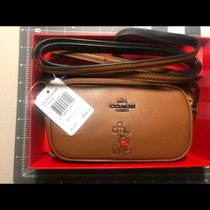 Coach Boxed crossbody pouch with Mickey